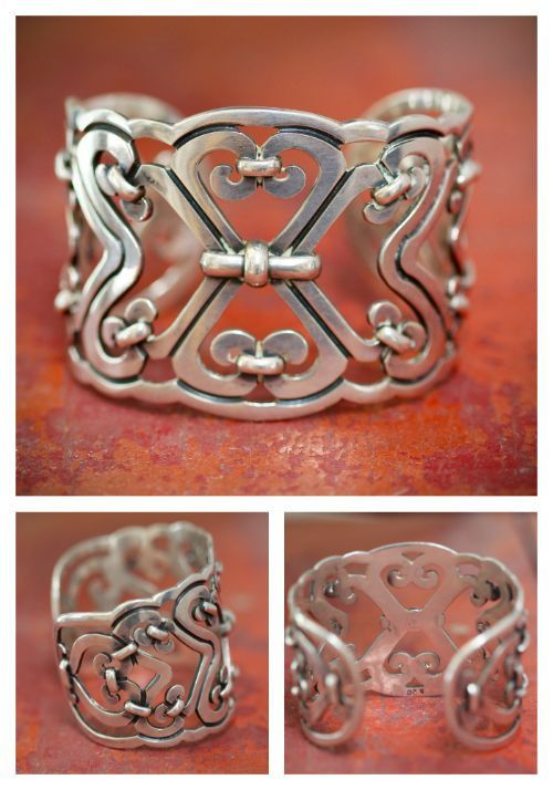 Cuff Bracelet Mexico Sterling Silver Sergio Taxco – Yourgreatfinds