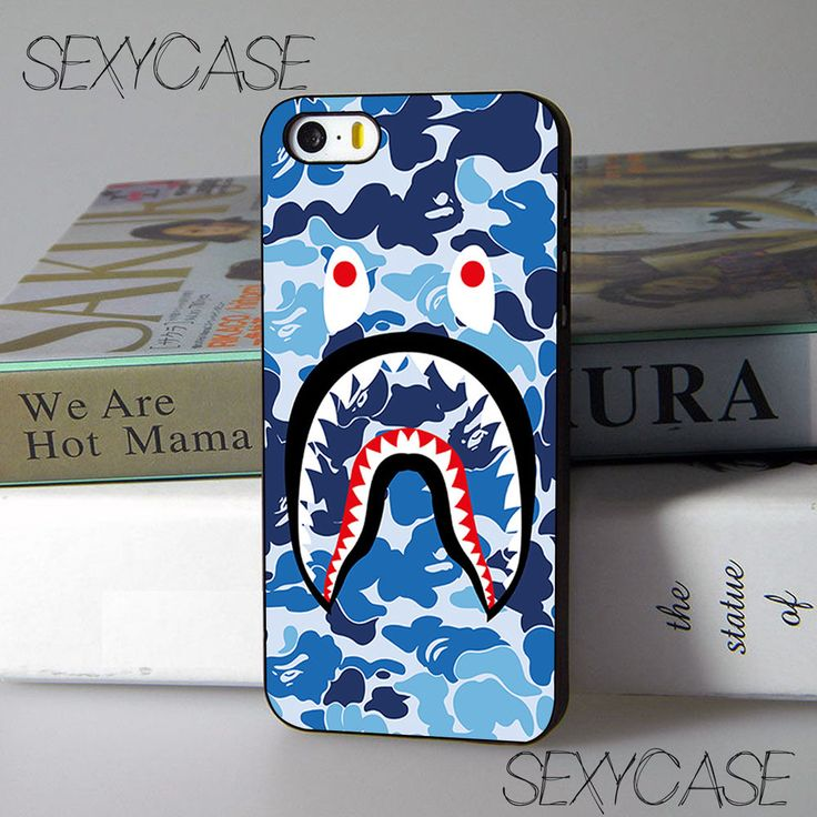 New Camo Shark Ble Face Cover for iPhone 7 7+ and Samsung Galaxy S8 Case #UnbrandedGeneric