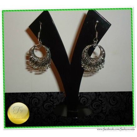 Pretty German Silver Earrings  	Material- German silver  	Color- Silver  	Care- Protect from moisture.  	Storage- Keep in an airtight pouch.