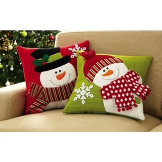 pillow with snowman - Google Search