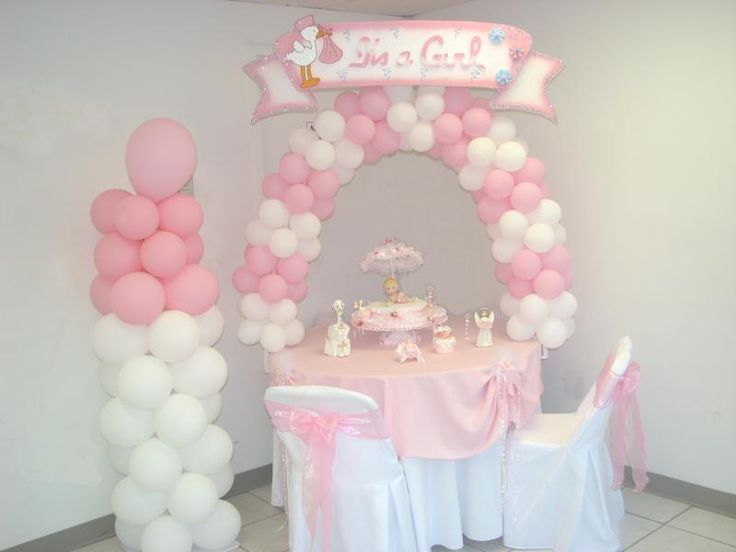 baby shower decorations decorated table for baby shower girl or boy party decoration. Black Bedroom Furniture Sets. Home Design Ideas