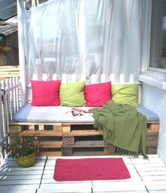 pallets furniture for balcony - Google Search