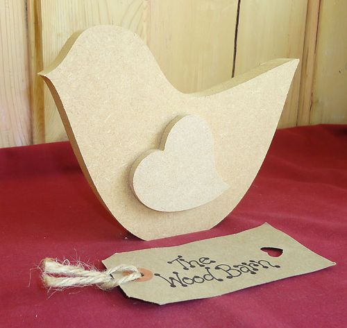 Free standing 3d bird shape wooden craft shapes mdf for Wood cutouts for crafts