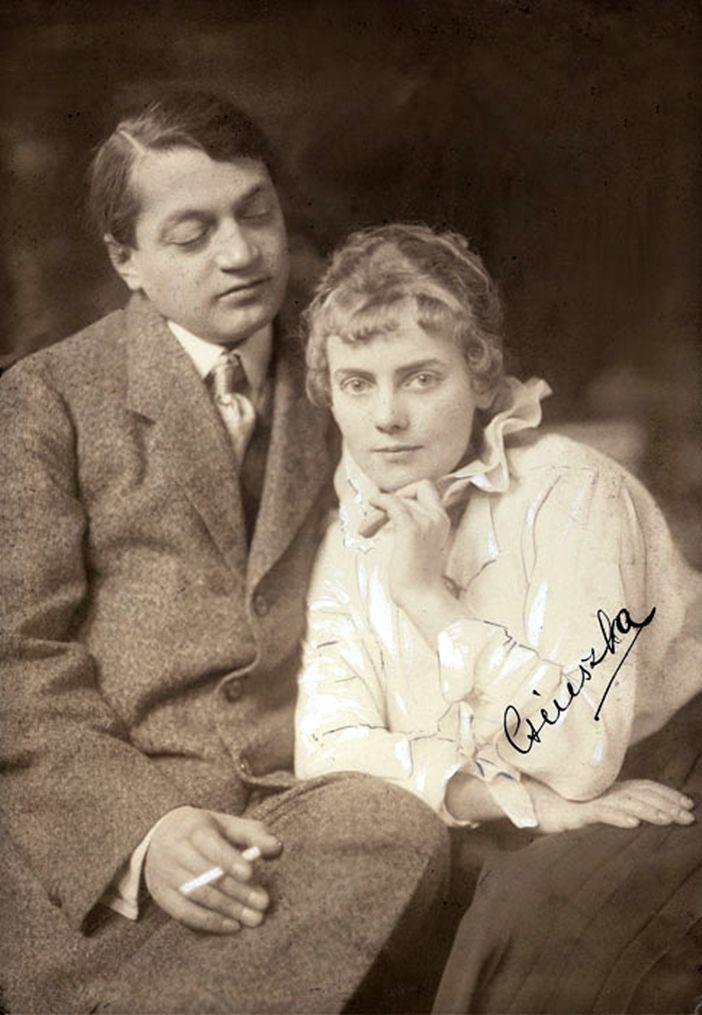 Ady Endre, Boncza Berta(Csinszka). Photography by Aladár Székely 1915