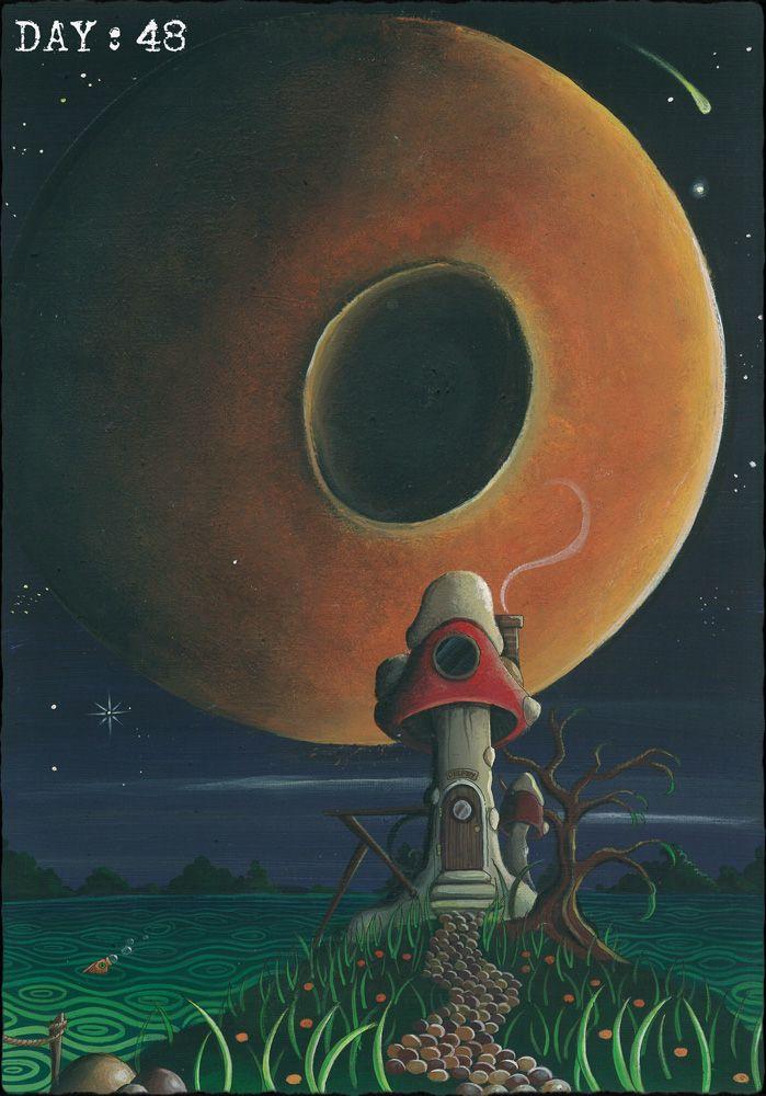 Fantasy mushroom house by Traci Howard(feythcrafts)