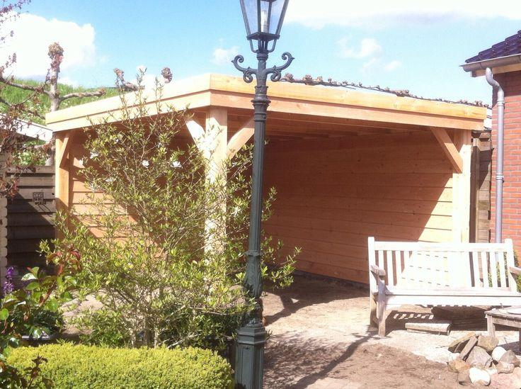 Overkapping van douglas hout maatwerk www.vanviegen.com