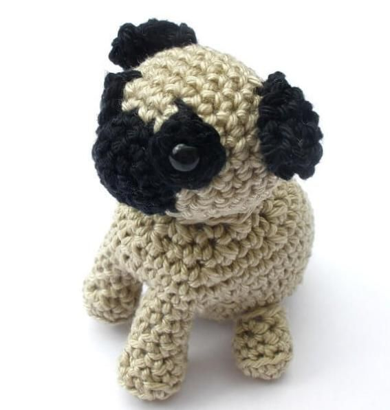 Pug Dog Crochet Pattern Lots Of Ideas Video Tutorial | 597x567
