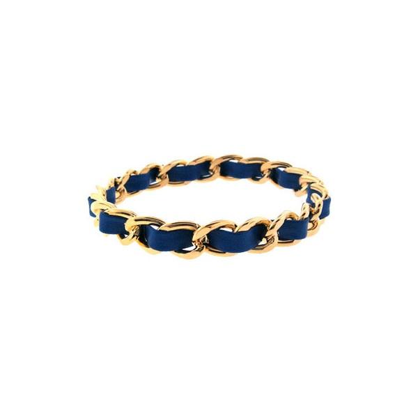 Meghann's Blue Imitation Leather & Gold Chain Link Bracelet - Final Sale ($17) found on Polyvore: Gold Chains, Chains Link Bracelets, Imitation Leather, Finals Sales, Chain Links, Blue Imitation, Chain Link Bracelets, Meghann Blue