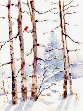 Susie Short's Watercolor Christmas Bird