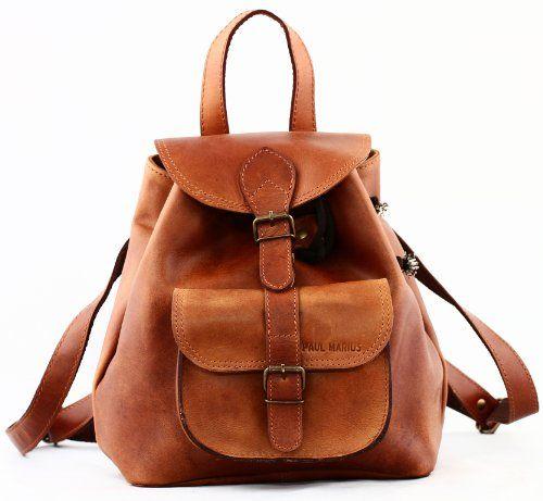 PAUL MARIUS petit sac à dos en cuir couleur Naturel style vintage LE BAROUDEUR