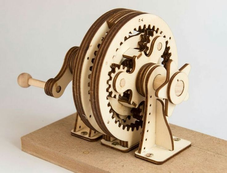 Hand Cranked Planetary Gear Laser Cutting Projects To