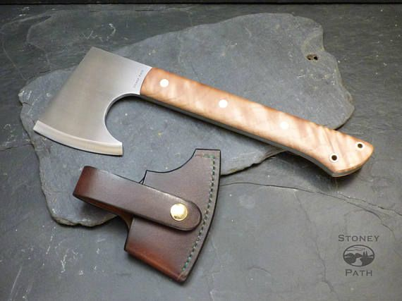 Bushcraft Axe/Survival Axe/Hatchet/Tomahawk/Camping Axe/ Handmade Axe/Full Tang Axe/ READY FOR NEXT DAY SHIPPING The Stoney Path, Big dog Survival Axe is a beautiful Bushcraft axe, perfect for those times when you need a tool that can not only carve but will also handle the more