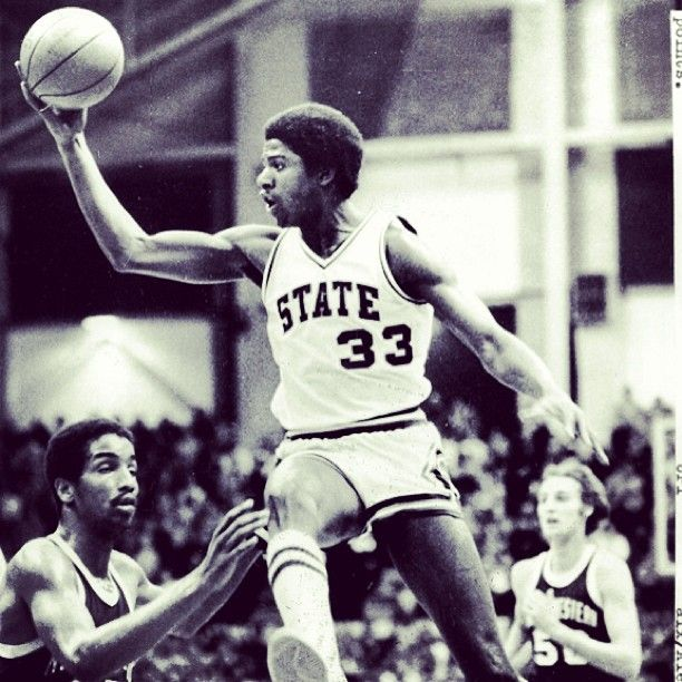 """Earvin """"Magic"""" Johnson, Michigan State Spartans legend, photo from @TheSPORTGallery Sport Sport archive."""