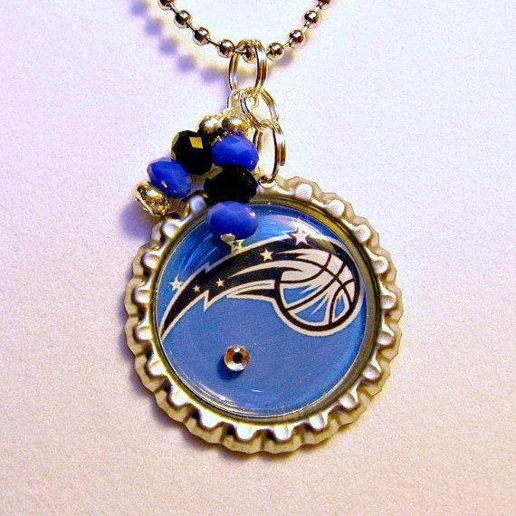NBA Orlando Magic Basketball Necklace by Sports Jewelry Studio.  $10.  etsy.com/shop/sportsjewelrystudio