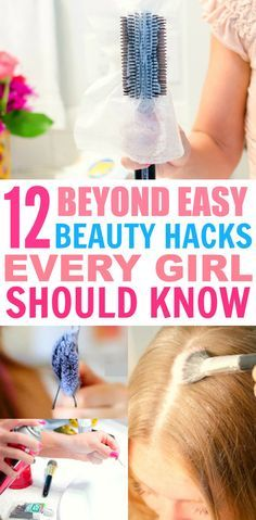 These 12 beyond easy beauty hacks every girl should know are THE BEST! I'm so glad I found these AMAZING tips! Now I have some cool tricks to try! Definitely pinning for later!