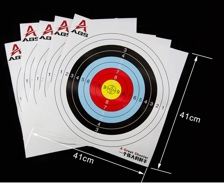 Paper Target for Shooting Practise 41*41 Archery Target Paper Bow Arrow Set Hunting Archery Accessory