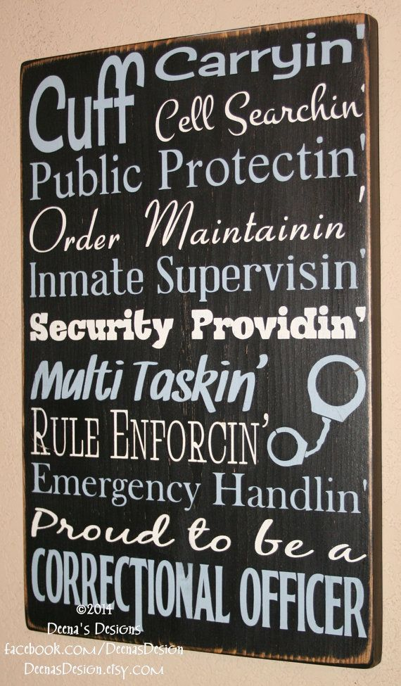 Correctional Officer Sign  CO Sign Corrections by DeenasDesign