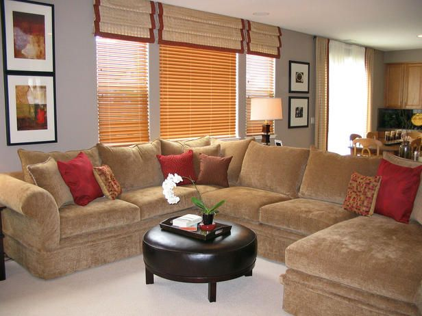 COZY SECTIONAL DIVIDES KITCHEN FROM LIVING AREA : cozy sectional sofas - Sectionals, Sofas & Couches