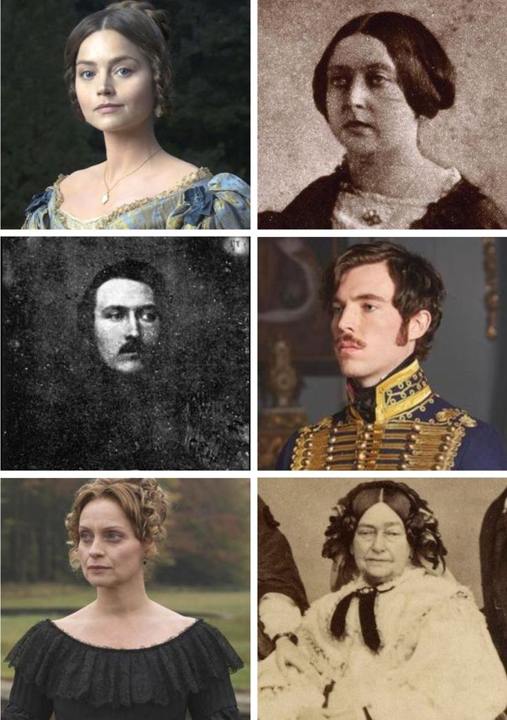 Actors and their historical counterparts.
