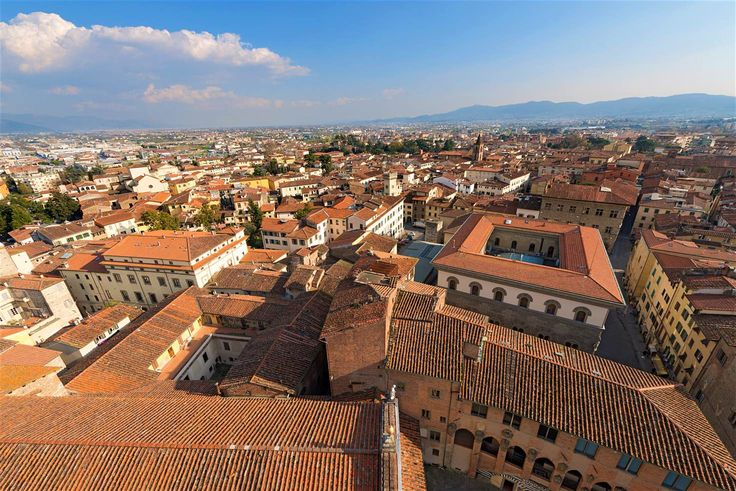 View over Pistoia to the mountains beyondfrom the cathedral's bell tower
