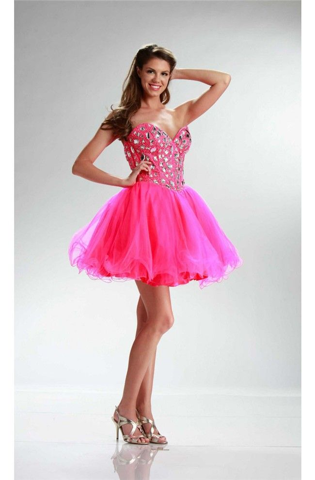139 best hot pink prom dress images on Pinterest | Hot pink, Long ...