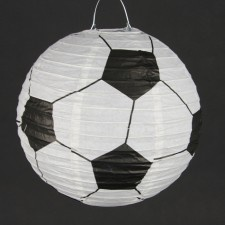 Soccer party lantern ... instead of balloons