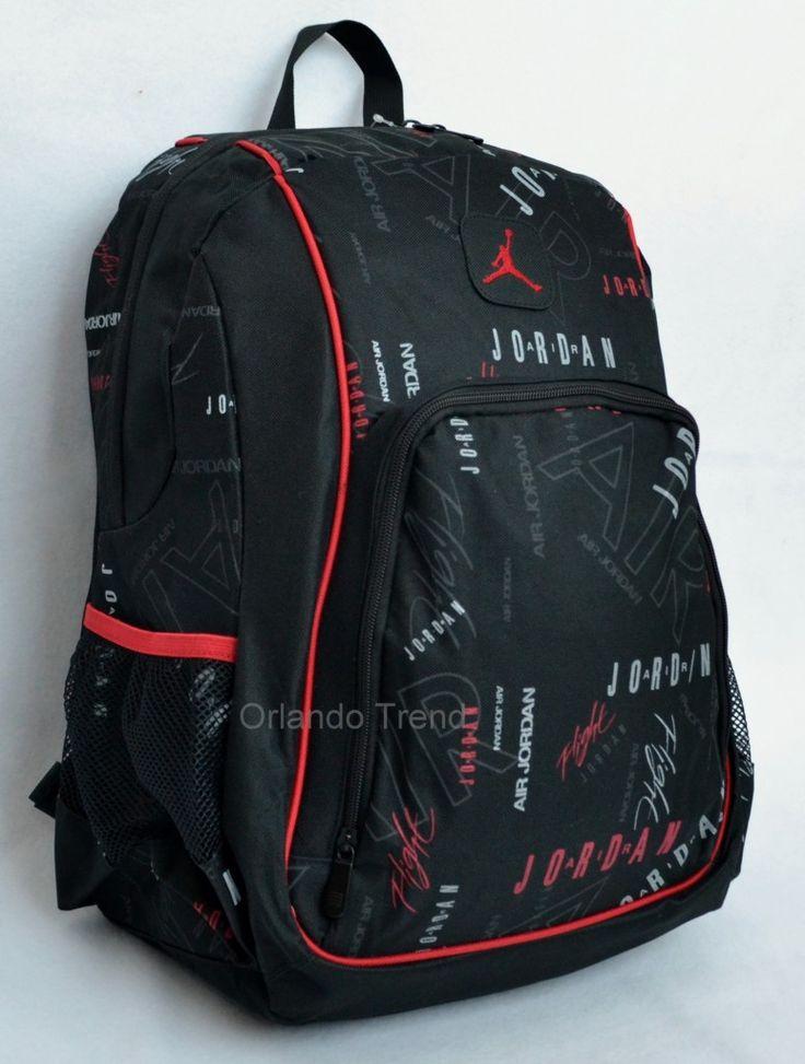 Nike Air Jordan Backpack in Red, White and Black for Men, Women, Boys and Girls #OrlandoTrend #Nike #Jordan #Backpack