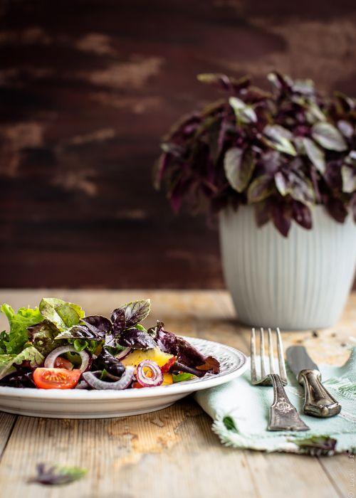 Летний салат с нектаринами