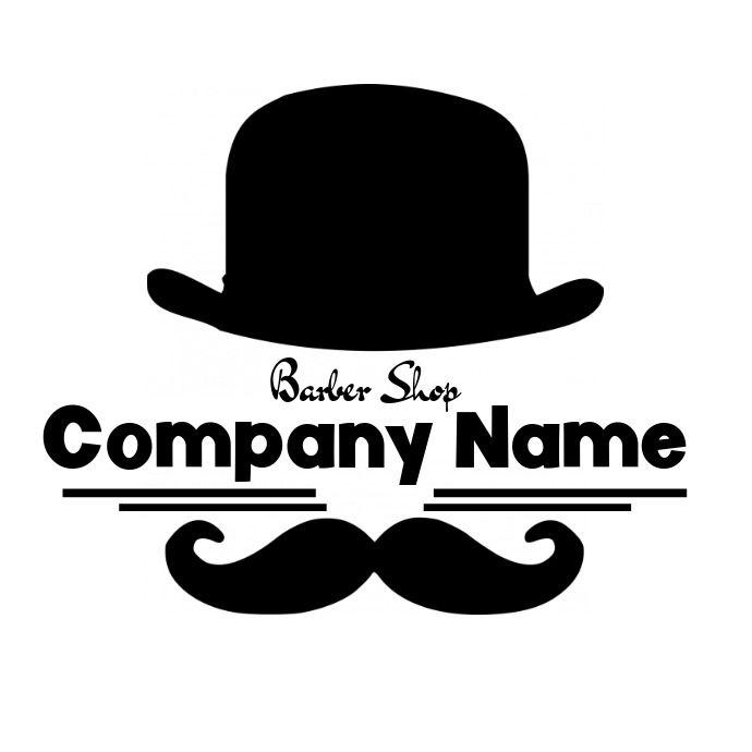 Barber Shop Logo Hat And Moustache Barber Shop Logo Barber Shop Black And White Logos