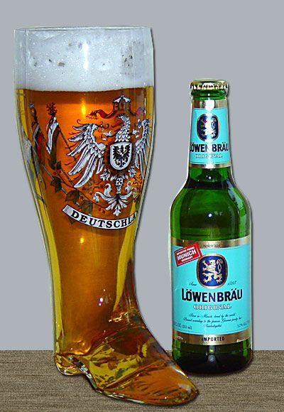 """A German """"beer boot"""" """"Tonight Is kind of special"""" Sing it! """"The beer well pour must be something special somehow..."""" """""""
