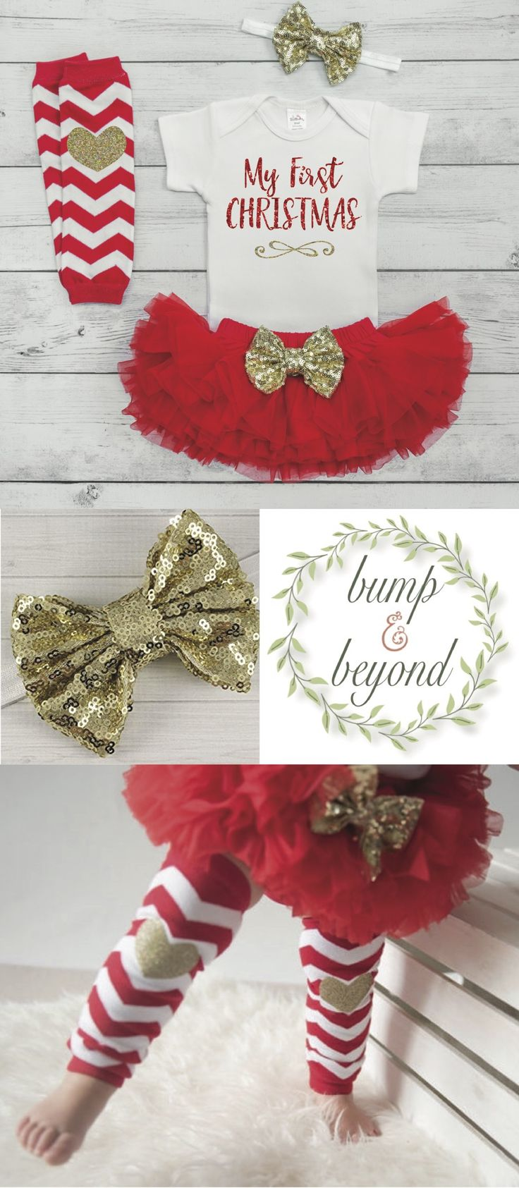 First Christmas Outfit Girl Cute Christmas Outfit Newborn Girl Christmas Outfit Baby Girl Christmas Baby Outfit My 1st Christmas Tutu