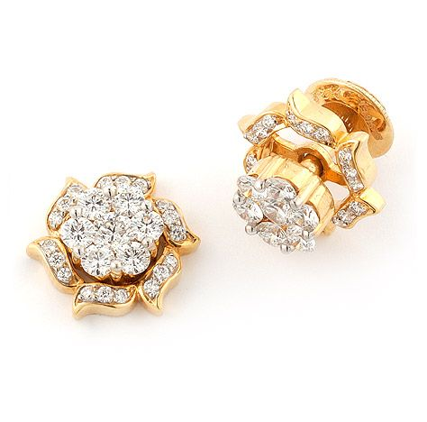 Diamond Ear Studs | Elegant Diamond Earstuds