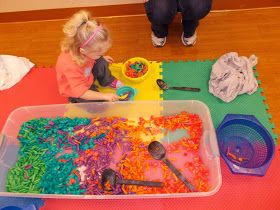Miss Courtney Meets Bobo: Messy Learning Lab: Noodles