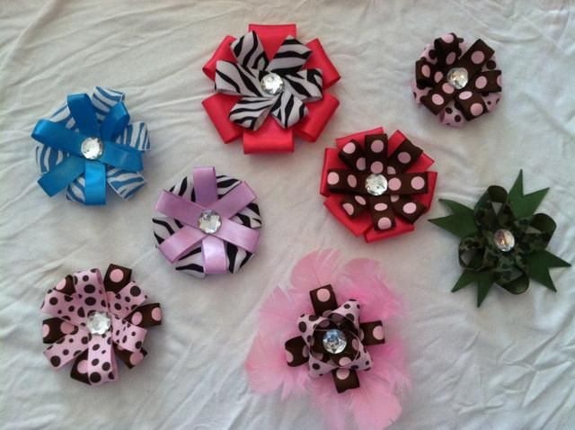 Free Homemade Hair Bows Instructions | Homemade Hair Bows Since I have a request for more hair bows from another friend