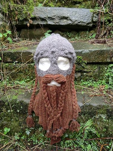 Dwarven Beard and Battle Bonnet | Community Post: 19 Nerdy Knits You Need To Knit Right Now