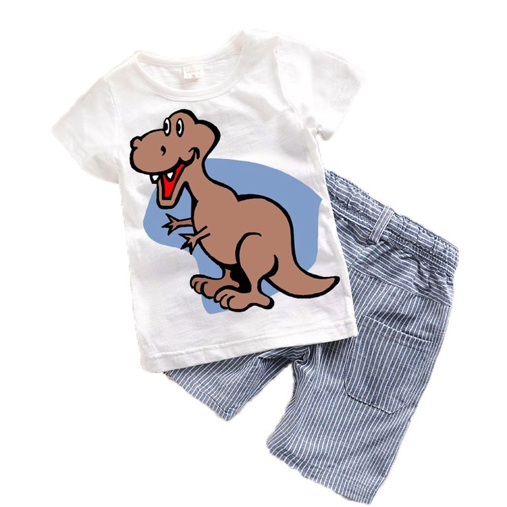 Children Kids Suits Summer 2017 New Cartoon Baby boys clothes Toddler boy clothing sets Character Kids clothes Cute Animal T15 //Price: €8.6 & FREE Shipping //   #fashion #baby #clothes #trendy #2017