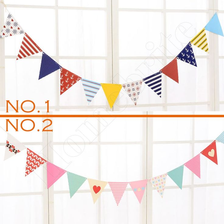 2.5M Christmas Decorations Garland Adornos Navidad 2016 Paper Flags and Banners Double Sides Printed Party Home Decoration PT092
