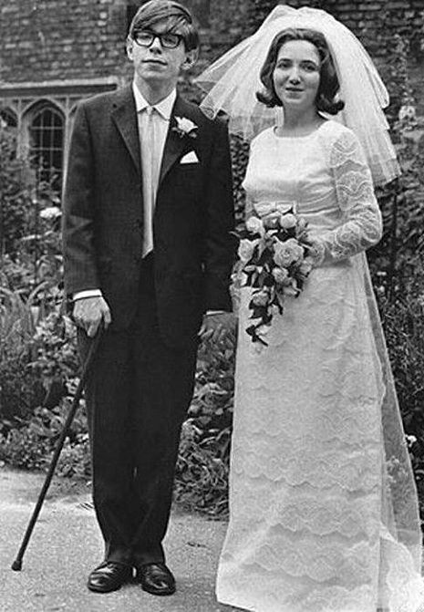 Young and foxy Stephen Hawking   Taken at his 1965 wedding to Jane Wilde, Hawking was a jaunty 23.