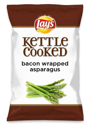 Wouldn't bacon wrapped asparagus be yummy as a chip? Lay's Do Us A Flavor is back, and the search is on for the yummiest chip idea. Create one using your favorite flavors from around the country and you could win $1 million! https://www.dousaflavor.com See Rules.