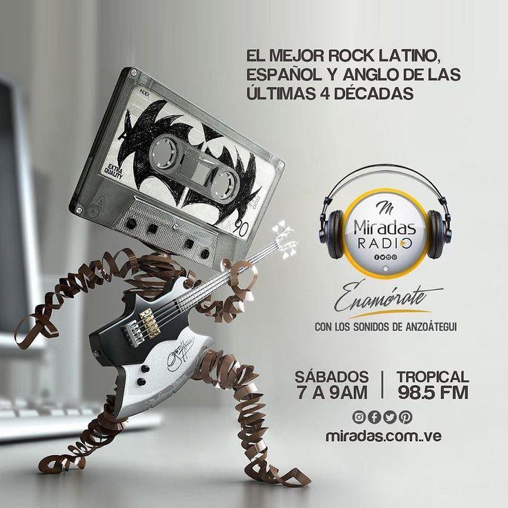 El mejor rock anglo y español todos los sábados en Miradas Radio por Tropical 98.5FM  @radiotropical98.5 #EnamoratedeAnzoategui #MiradasRadio #Anzoategui  #MiradasMagazine #Lecheria #PuertoPiritu #Mochima #Turismo #MiradaFotografica