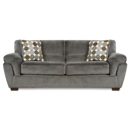 95 Quot Charcoal Upholstered Queen Sleeper Sofa Rc Good Bed