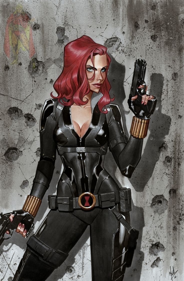Black Widow by Jorge Molina Comic Art