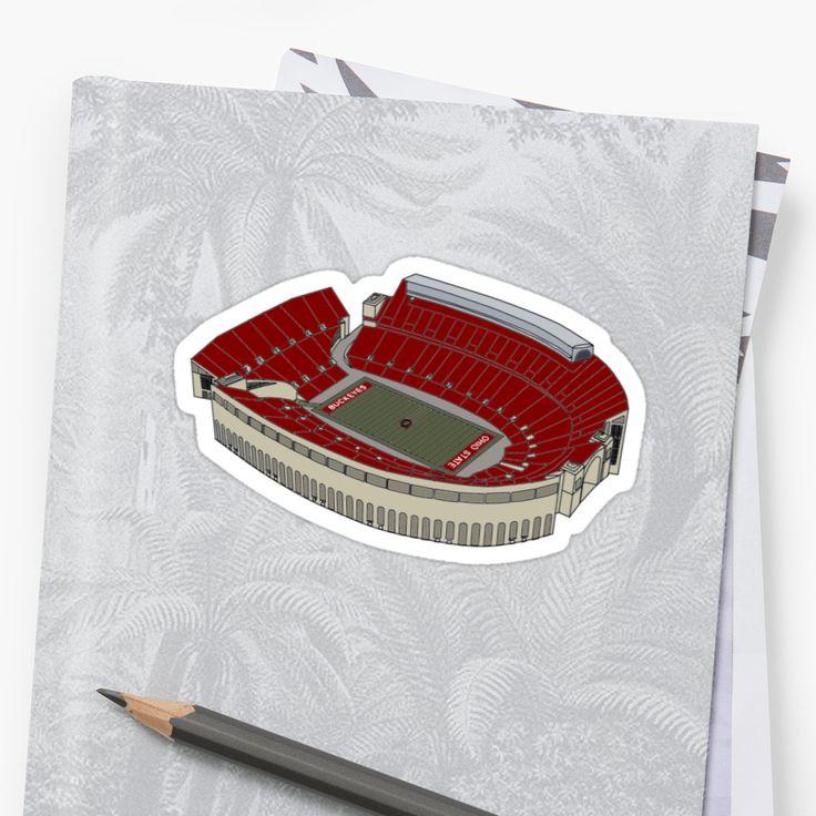 Ohio Stadium, home of The Ohio State University Buckeyes • Also buy this artwork on stickers.