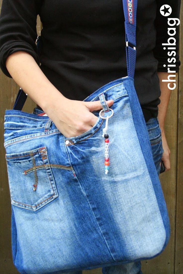 Wäre meine Nichte nicht gewesen, hätte ichvielleicht immerdieselbe ArtTasche ausgebrauchten Jeans gemacht!     Sie möchte eine Jeansta...