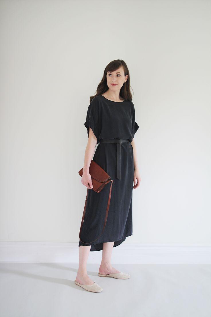 Black crepe silk