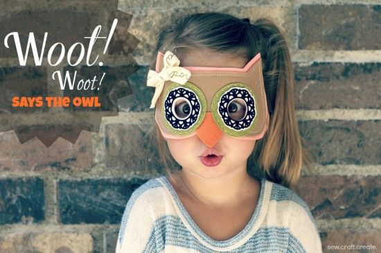 Love this little owl mask! #DIY #crafts cute