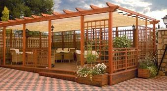 9 best toldos jardin images on pinterest decks porches - Cenadores para jardin ...