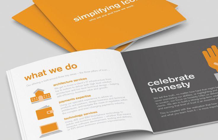 Square brochure with matt laminate finish. Designed by Theme.