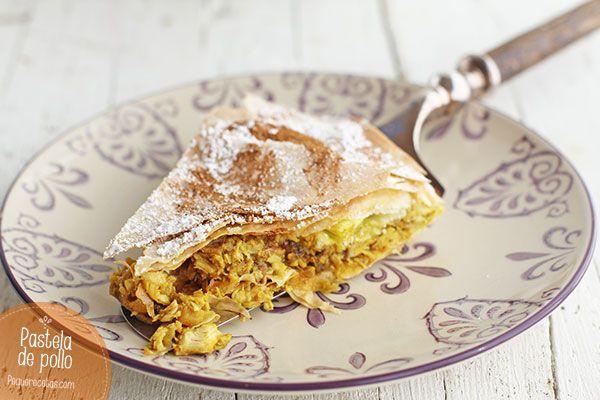 La pastela marroquí de pollo es un plato delicioso. Receta de pastela marroquí de pollo paso a paso, un plato ideal como aperitivo o comida.