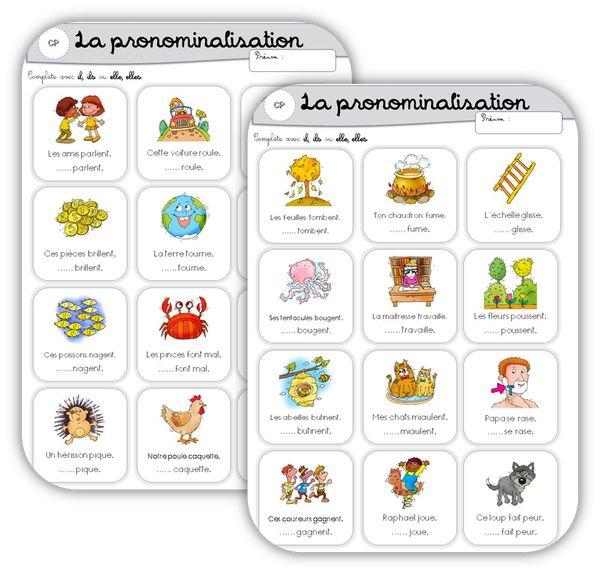 Grammaire au CP : pronominalisation